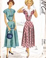 Vintage 1949 McCall Yoke Detail Dress Pattern Bust 35