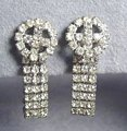 Vintage Rhinestone Earrings Belt Loop Style