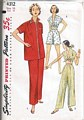 Vintage Simplicity 4312 Midriff, Blouse Pajama Pattern Bust 34