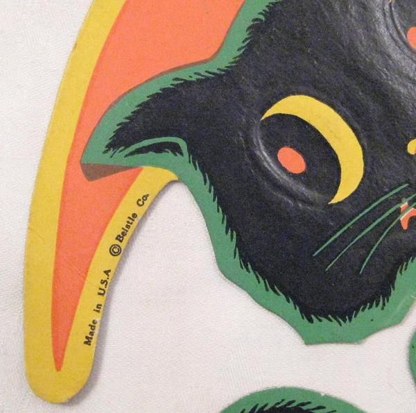 Beistle Vintage Black Cat and Moon Halloween Decoration