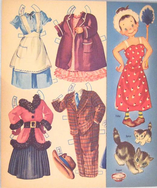 The Little Family and Their Little House Paper Dolls 1949