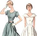 50's Dress Pattern Afternoon and Ballerina Lengths Bust 30