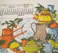 Vintage 1981 Linen Calendar Kitchen Towel