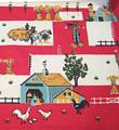 Vintage Country Farm Print Kitchen Towel