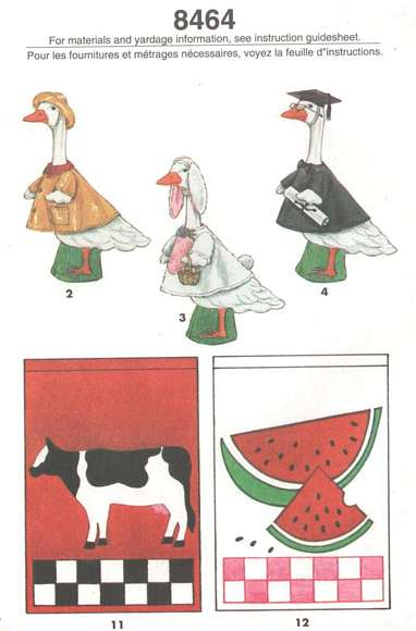 Lawn Geese Clothes and Flags Simplicity Pattern 8464