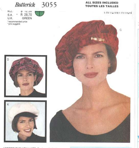 Butterick 3055 Nine Different Hats Pattern