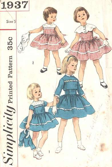1950's Girls Dress, Cape and Jacket Pattern Size 5