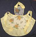 Yellow Roses Organdy and Taffeta Vintage Glamour Bib Apron