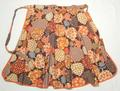 Autumn Leaves Vintage Half Apron
