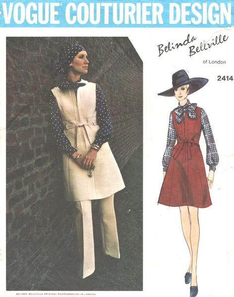 Bellville Vogue 2414 Jumper, Pussy Bow Blouse, Pants Pattern - Click Image to Close