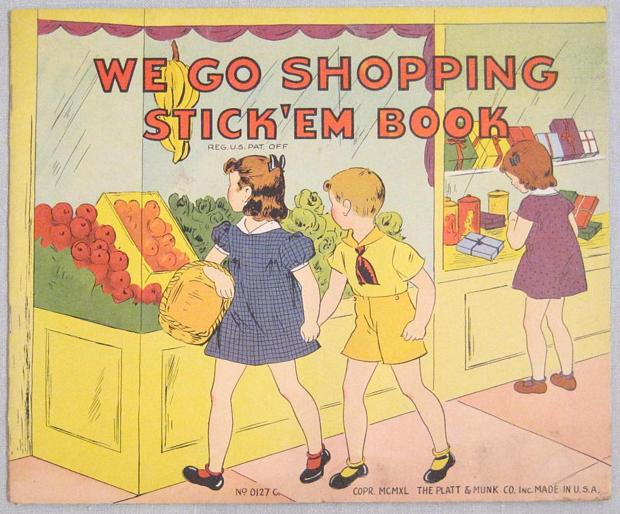 Vintage We Go Shopping Stick 'em Book Platt and Monk - Click Image to Close