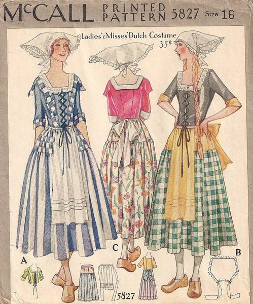 1920's Rare McCall Dutch Costume Pattern - Click Image to Close