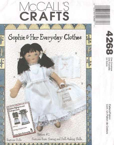 Sophie Lingerie and Playmate Doll McCall's Pattern 4268 - Click Image to Close