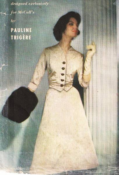 1950's McCall's 4255 Pauline Trigere Suit Dress Pattern B32 - Click Image to Close