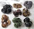 8 Sets of Vintage Plastic Buttons in Earth Tones
