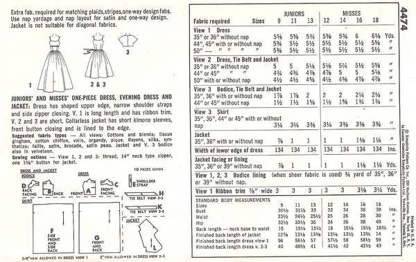1960's Mad Men Era Evening Dress and Gown Pattern B34 - Click Image to Close