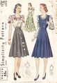 Vintage 40's Simplicity 3457 Jumper, Skirt, Blouse Pattern B38