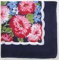 Bold and Beautiful Red, White and Blue Zinnias Hankie