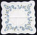 Blue and White Floral Vintage Hankie
