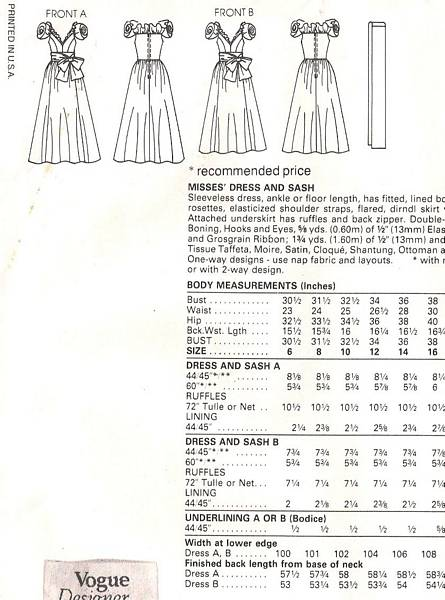 Vogue 1152 Sassoon Rosette Glamour Gown Pattern - Click Image to Close