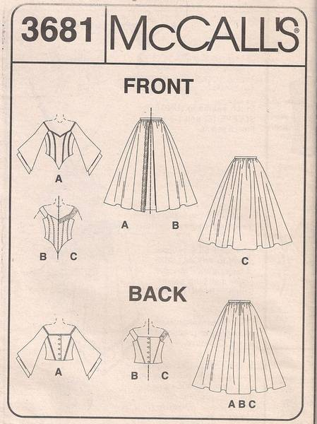 McCall's 3681 Off Shoulder Top and Evening Skirt Pattern 6-12