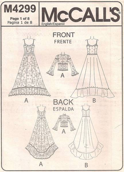 McCall's 4299 Alicyn Bridal Gown and Jacket Pattern 10-12 - Click Image to Close