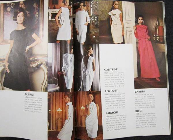 Vogue Pattern Book Feb/March 1966 with St. Laurent Feature