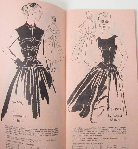 Spadea 1955 Booklet B International Designer Patterns