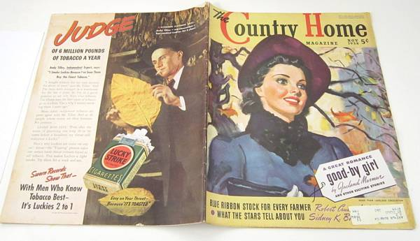 1938 November Country Home Magazine, James Schucker Cover