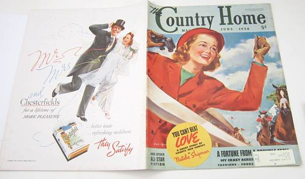 1938 Country Home Magazine, Clark Agnew Cover, Woman Horse Races