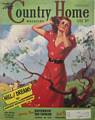 1938 July Country Home Magazine Woman in Red Dress