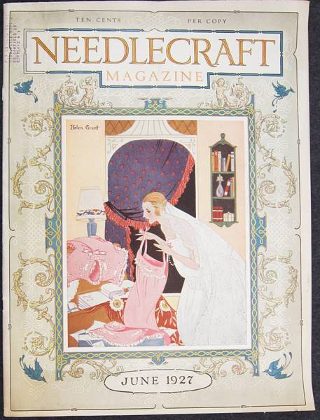 1927 June Needlecraft Magazine with Deco Trousseau - Click Image to Close
