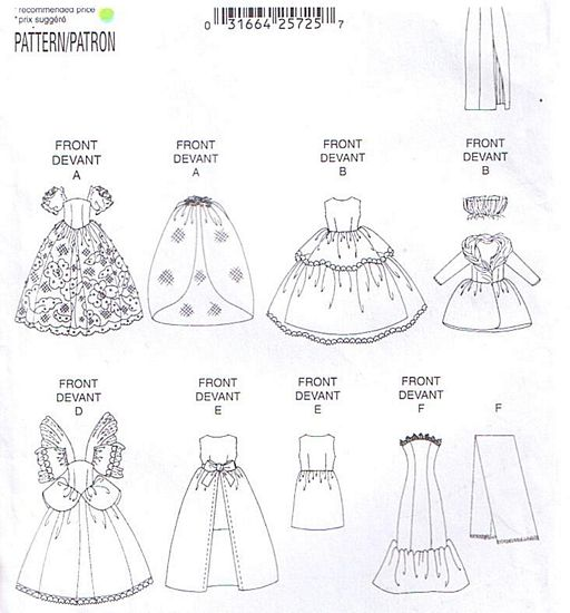... Doll Clothes Pattern : Vintage Sewing Patterns, Heavens To Betsy