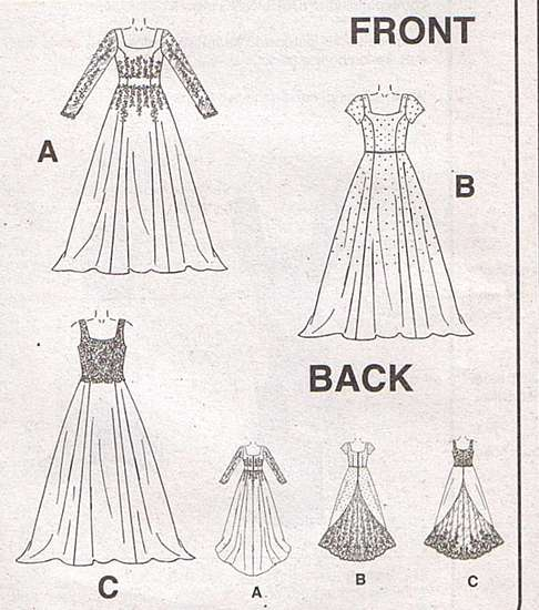 McCall's 3046 Alicyn Bridal and Bridesmaid Pattern 10-14