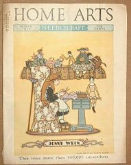 Home Arts Needlecraft Magazine March 1936 Jenny Wren, Doll Cover