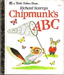 Richard Scarry's Chipmunk's ABC Little Golden Book 1963