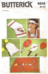 Butterick Tennis Cover Accessories Pattern 6815