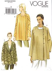 Asymmetrical Vogue 8007 Jacket Pattern Sizes 20-24