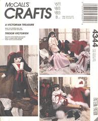Victorian Stuffed Doll and Clothes Pattern McCall's 4344