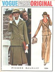 Balmain Vogue Paris Suit Pattern 1094 Bust 34