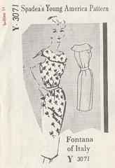 Fontana of Italy Spadea 60's Dress Pattern Bust 34.5