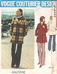 Galitzine Vogue Couturier Coat, Pants Pattern 2777 Bust 34