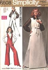 60's Jumpsuit, Full Length Tunic, Blouse Pattern Bust 34