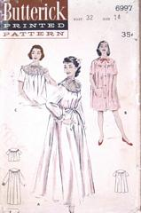 50's Peignoir, Nightgown and Bedjacket Pattern Bust 32