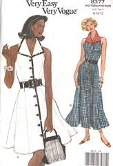 80's Princess Seam Button Front Sleeveless Dress Pattern 8-12