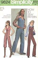 Partridge Family Susan Day 70's Jumpsuit Pattern Bust 34