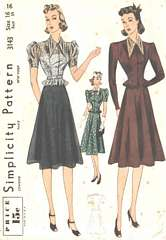 1930's Sculptured Blouse and Skirt-Camisole Pattern Bust 34