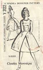 Charles Montaigne Spadea Dress Pattern Y-3122 Bust 32.5