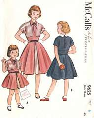 1950's Bolero-Look One Piece Girls Dress Pattern Size 6