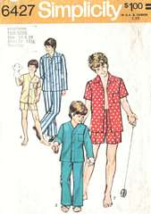 Teen Boys 70's Pajamas Pattern Chest 32-33.5